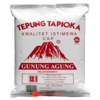 Tepung Tapioka Sagu Cap Gunung Agung 500 gram gr G / 500gr