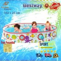 Bestway Fill n Fun Pool 152cm. Kolam Renang Anak Tanpa Tiup Pompa