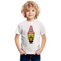 BAJU KAOS ATASAN ANAK   Kaos Anak laki laki Murah   1 - 10tahun - spongebob, 2-3 tahun