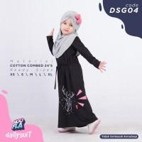 Baju Gamis Anak Perempuan Umur 2 4 6 8 10 Tahun DSG 04