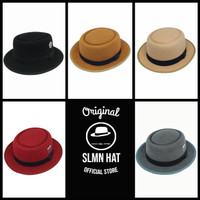 Pork pie Fedora Hat For Man Original Salamun Hat Made in Bandung