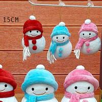 Boneka snowman bowl natal uk.15cm Boneka snowman natal souvenir kado