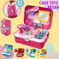 Mainan Anak Koper Mainan Case Set Dokter Make up Mechanic Masak Koper