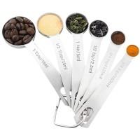 Measuring Spoon Set/ Sendok Takar Ukur Stainless Steel 6PCS