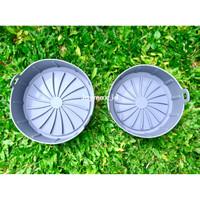 Air fryer silicone pot / silikon air fryer / silikon pot / silicone - Abu-abu, 16 cm