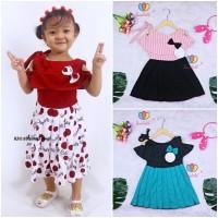 Dress Rachel uk Bayi - 5 Tahun / Baju Dres Anak Perempuan Murah Motif - Bayi 3-12 Bulan