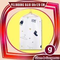 Cover Pelindung Baju Pakaian 60 x 120cm Anti Debu Motif Lucu - CDC002