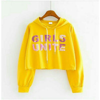 Fashion Modern Outer Girls Unite Hoodie Outer Sweater Anak Perempuan