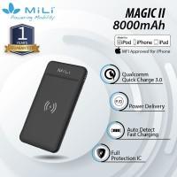 MiLi Power Magic II Fast Charging Powerbank Wireless 8000 mAh/ QC
