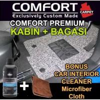 Karpet Mobil COMFORT Honda Brio / Brio Satya 2baris bagasi Premium