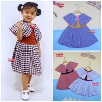 Dress Yolla size 3-4 Tahun / Dres Cape Anak Perempuan Murah Baju Kensi