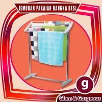 Jemuran Handuk Pakaian Baju Rangka Besi Minimalis TWR001 Kuat Kokoh