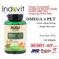 Now Foods PETS Omega 3 180 Gels Vitamin Omega Kucing/Anjing Rasa Ikan