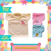 Kaos oblong harian atasan baju lengan pendek bayi newborn murah