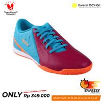 Sepatu Futsal League Legas Attacanti LA Majolica Blue Pink Ungu Pink