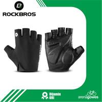 Sarung Tangan Sepeda Rockbros Road Bike MTB Cycling Glove Half Finger - XL