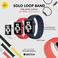 Solo Loop Strap Apple Watch 6 5 4 3 2 1 iWatch Band 44 40 42 38 mm
