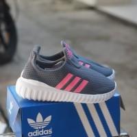 adidas slip on abu list pink sepatu anak