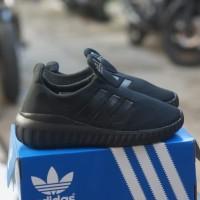 adidas slip on full black sepatu anak unisex
