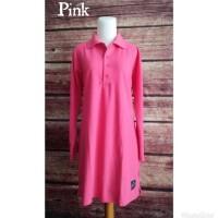 Kaos Polo Shirt Muslimah BIG Size XXL Jumbo - Merah
