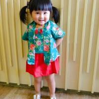 free ongkir cod kutubaru anak / kebaya anak / set baju anak 0-5 tahun - 0