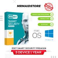 Antivirus ESET Smart Security Premium 11 Anti Virus 3 PC 1 Tahun