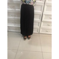 rok plisket hyget premium warna - Hitam