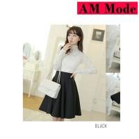 Rok payung hitam,rok pendek, Flare skirt