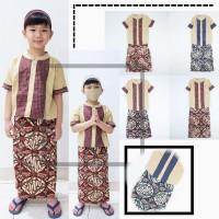 Baju Koko Setelan Sarung Celana Roboy Kids Motif Batik