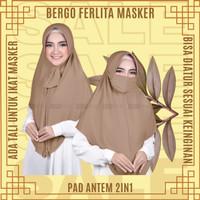 Bergo Ferlita Masker 2in1 Hijab Zoya Jilbab Kerudung Instant Wanita