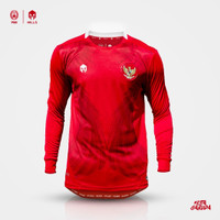 MILLS Timnas Indonesia Jersey Home Player Issue Long Sleeve 1023GR Red - Merah, M