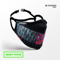 Stayhoops - Masker Fullprint 2 Layer - Non Medis - Primeval