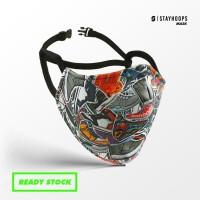 Stayhoops - Masker Fullprint 2 Layer - Non Medis - Kicks