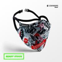 Stayhoops - Masker Fullprint 2 Layer - Non Medis - Shout Out