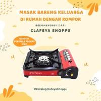 Kompor Progas Portable 2 in 1 cocok untuk travelling