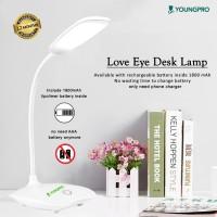 LED Usb Rechargeable Lampu Meja Belajar - Desk Lamp Reading Book Lamp