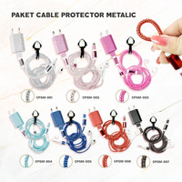 Cable Protector/Pelindung Kabel Spiral-SET CHARGER & HEADSET- METALIC - CPSM-001