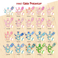 Cable Protector/Pelindung Kabel Spiral-SET CHARGER & HEADSET- CARTOON