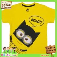 Baju/Kaos Anak Motif Batman Minion 1-10 th - Kuning, 3-4 tahun