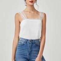 Amara Lace Trim Camisole - White