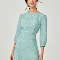 Taliyah Open Back Mini Dress - Mint