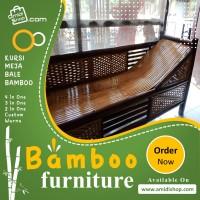 bale bambu + meja