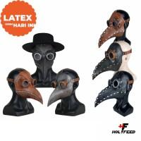 Topeng Burung Kulit Fullface Panjang Plague Doctor Latex TERMURAH