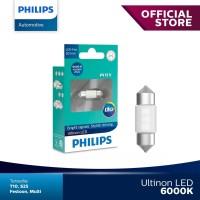 Philips Ultinon LED Festoon 30Mm Putih Lampu Kabin Plafon Mobil.