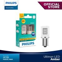 Philips Ultinon LED PY21W S25 Lampu Sein Mobil Warna Amber / Orange