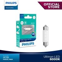 Philips Ultinon LED Festoon 38Mm Putih Lampu Kabin Interior Plafon Mob