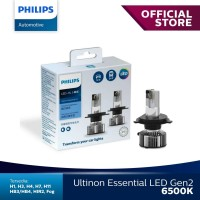 Philips Led Ultinon Essential Gen2 H4 6500K Lampu Mobil.