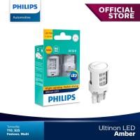 Philips Ultinon LED WY21W T20 Lampu Sein Mobil Warna Amber / Orange