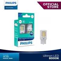 Philips Ultinon LED W21W T20 Lampu Malam Rem Stop Mobil Warna Putih