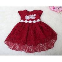 Dress Brukat Alice Size S M L /Baju Anak Brokat /Fashion Anak